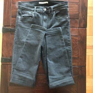 Levi's dark grey jeans super skinny